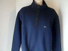 Woolrich Mens XL Blue Fleece Sweat Shirt 100% Polyester USA #Woolrich #FleeceTops