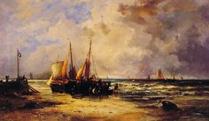 Coming_Ashore - Abraham Hulk Snr. - Anglo-Dutch painter born in London