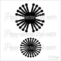 Paper flower SVG files & PDF templates.  Use this center with your cutting machine to add a nice poppy or anemone style center to any giant or small paper flower. It is recommended that you use a cutting machine but a PDF outline for printing is included. If you have trouble accessing your images please contact me so I can make sure you get your files. Continue shopping here  CatchingColorflies.etsy.com USES ::::::::::::::::::::::::::::::::::::::::: - FLOWER TEMPLATES ARE COPYRIGHTED &am...