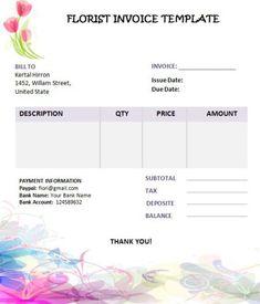 Wedding Flower Invoice Template Invoice Template Photography Invoice Template Photography Invoice