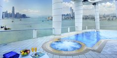An overview of Hong Kong''s best 15 hotels with rooftop swimming pools, providing an infinity-edge and breathtaking views of Victoria Harbour and skyline. Outdoor Swimming Pool, Swimming Pools, Tin Hau, Travel Baby Showers, Victoria Harbour, Health Club, Places Of Interest, Rooftop, Travel Guide
