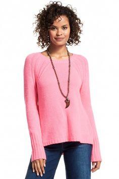Calypso St. Barth - pink cashmere crew neck pullover sweater