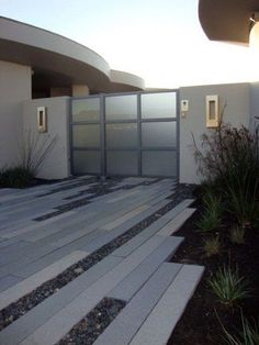 Ideas contemporary landscape design entrance outdoor living for 2019 Modern Driveway, Modern Front Yard, Driveway Design, Modern Entry, Driveway Ideas, Modern Landscape Design, Modern Landscaping, Contemporary Landscape, Landscape Architecture