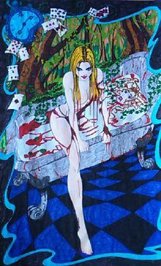 Alice aux pays des merveilles et la reine de coeur