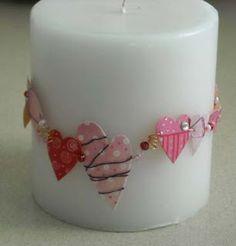 Vela decorada San Valentin
