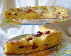 Crostata con crema di limoni e mirtilli