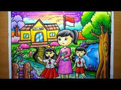 Art Drawings For Kids, Drawing For Kids, Easy Drawings, Art For Kids, Oil Pastel Art, Oil Pastel Drawings, Colorful Drawings, Energy Conservation Poster, Trending Topic