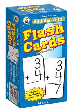 Carson Dellosa - Addition Flash Cards 0 to 12 - 94 Cards with Math Problems for and Grade Math, Ages with Bonus Game Teaching Tools, Teaching Kids, Addition Flashcards, Good Study Habits, Carson Dellosa, Children With Autism, Kindergarten Math, Classroom Organization