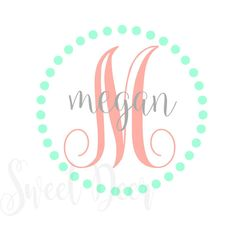 Monogrammed Decal, Circle Monogram, Fancy Monogram Car Decal, Yeti Decal, Laptop Decal, Monogrammed Vinyl Decal