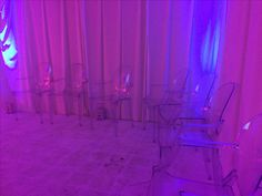 Clear ghost chairs at event in #london #ghost #furniturehirr