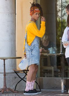 Head turner! Jaden Smith stood out from the crowd when he stepped out in Calabasas on Friday afternoon