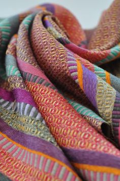 """NIRALEE PATTNI  """"Graduating from Chelsea, specialising in woven textiles, I have always had a great love for colour.  My work draws upon experimenting with unique and unusual colour palettes, using a medley of patterns, while ensuring the balance between each is strong."""""""