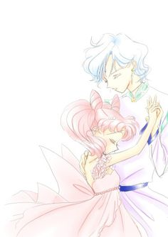 Really beautiful drawing of Helios and Chibi Usa.