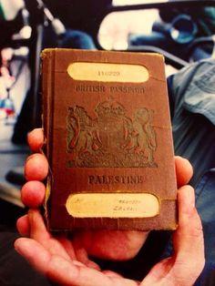 In response to Israeli Propaganda that Palestine never existed - - Pinner writes: Palestinian Passport, para quien dude de si antes de Israel existía o