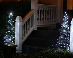 DIY: Tomato Cage Christmas Tree Lights