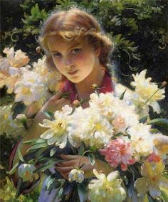 Peonies by Charles Courtney Curran