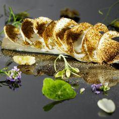 Raw Mackerel with Zeps, Walnuts and Moonlight  MADS REFSLUND, COPENHAGEN, DENMARK