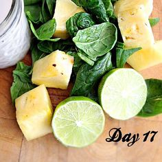 tropical breeze green smoothie - Serves 2 2 cups spinach, fresh 2 cups coconut milk 1 teaspoon lime juice, freshly squeezed 2 cups pineapple 1 banana