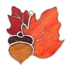 Switchables Nightlight Stained Glass Fall, Halloween & Thanksgiving Covers & Suncatcher Ornaments
