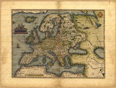 Map of Europe From 1500s Ancient Old World Cartography Digital Image Download 081. $4.50, via Etsy.
