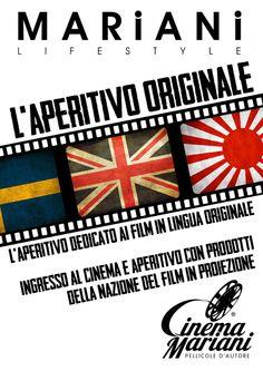 Ogni martedì l'aperitivo dedicato ai film in proiezione presso il Cinema Mariani.