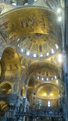 Inside the Saint Mark Basilica you will be astonished by marvellous golden mosaics