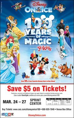 Take your whole family to see Disney on Ice, and use this ad for $5 OFF each ticket!!  // For more family resources visit www.ifamilykc.com! :)