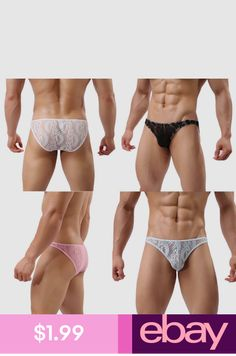 Men Summer Casual Breathable Lace Underwear Boy Boxer Brief Shorts Underpants White Lace Lingerie, Lingerie For Men, Boys Underwear, Cotton Underwear, Men's Briefs, Briefs Underwear, Versace Underwear, Guys In Speedos, Men's Undies