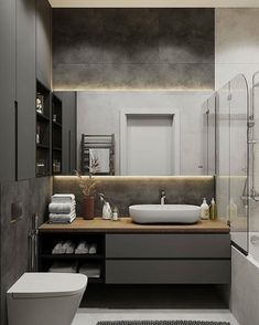 5 Bathroom Trends to Avoid Bathroom Vanity Units, Bathroom Photos, Small Bathroom, Remodled Bathrooms, Colorful Bathroom, Master Bathroom, Wc Design, Vanity Design, Design Ideas