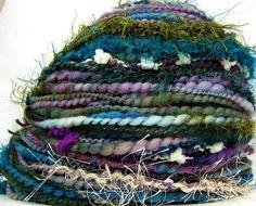 Kitty Grrlz HandSpun Art Yarn merino wool Twilight Garden by kittygrrlz, $ 55.00 ,
