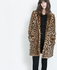 Image 2 of LEOPARD FURRY COAT from Zara