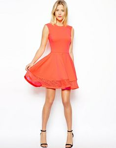 Image 4 ofASOS Lace insert Skater dress - Via Julie so she has dibs!
