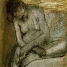 Seated Nude  Edgar Degas