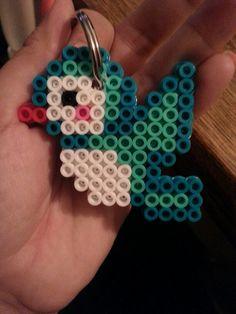 Bird perler beads by victoria campbell Hama Beads Design, Diy Perler Beads, Perler Bead Art, Pearler Bead Patterns, Perler Patterns, Pixel Art, Art Perle, Pixel Beads, Motifs Perler