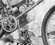Portfolio 4 RISD bike drawing by *Lumichi on deviantART