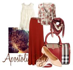 Apostolic Style by emmyholloway on Polyvore featuring EAST, J.Crew, Yumi, Oasis, Burberry and The CQ Store
