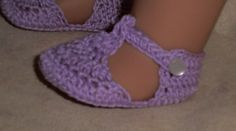 Crochet Pattern 156 Mary Janes and Sandals for 18 Inch Dolls; pattern to purchase