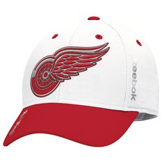 separation shoes d9e25 70932 Detroit Red Wings Reebok 2017 Centennial Classic Coaches Structured Flex Hat  - Red Flex Fit Hats