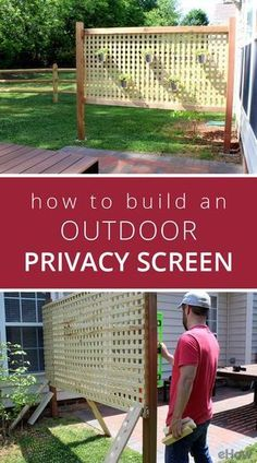 It's great to have wonderful backyard. But sometimes, you need your own privacy. So here comes the solution; an outdoor privacy screen. You can build your own DIY privacy screen. Patio Diy, Small Backyard Patio, Backyard Garden Design, Patio Design, Balcony Garden, Desert Backyard, Garden Walls, Outdoor Balcony, Outdoor Patios