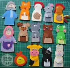 Felt Puppets, Puppets For Kids, Felt Finger Puppets, Felt Animal Patterns, Stuffed Animal Patterns, Felt Diy, Felt Crafts, Finger Puppet Patterns, Baby Quiet Book