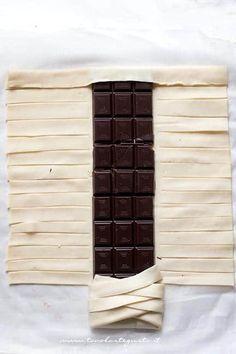 Come fare la treccia di sfoglia al cioccolato 3 - Ricetta Sfoglia al cioccolato