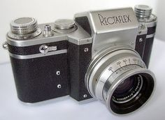 Italian SLR  Rectaflex camera  Together with the German Contax S, one of the first SLRs equipped with pentaprism.  Introduced in 1949  Late 25000 series version (so-called Rectaflex 1300)