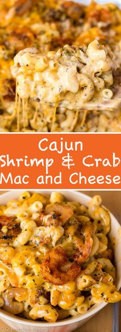 This Cajun Shrimp and Crab Mac and Cheese is super creamy, cheesy and decadent. This delicious spin to the classic dish will surely be your new favourite! food recipes Cajun Shrimp and Crab Mac and Cheese Cheese Recipes, Fish Recipes, Seafood Recipes, Cajun Shrimp Recipes, Cajun Shrimp Pasta, Easy Cajun Recipes, Shrimp Dinner Recipes, Pasta Recipes, Cajun Recipes