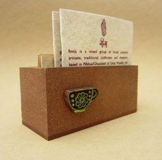 Block Visiting Card Holder - Natural $14