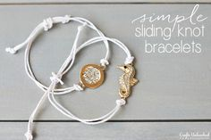 5 Minute Sliding Knot Bracelets Saw the Pura Vida bracelets and this must be how they do them. Cute. Must try.