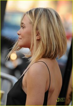 Ashley Olsen's short asymmetrical haircut