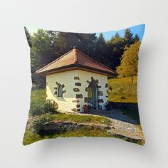 Small chapel up on the mountain Throw Pillow by patrickjobst Mountain Art, Throw Pillows, Art Prints, Home Decor, Art Impressions, Toss Pillows, Decoration Home, Cushions, Room Decor