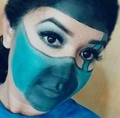 """""""Inspiração"""" Sub-Zero do jogo Mortal Kombat 🙅 #INSPIRAÇÃO #mua #makeupbySabrinaMoraes #makeupartist #pelemorena #girl #maquiadoraprofissional #makeup #maquillaje #me #amazing #instagood #subzero #beauty #selfie #mortalkombat #blue #sunday #domingo #maquiadoradesucesso #festaafantasia #fight  #maquiagemartistica  #agendeseuhorario"""