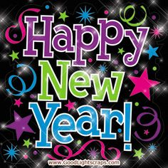 Animated Happy New Year GIF | Happy new year greetings, e-cards, new year wishes, comments, graphics ...