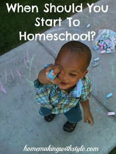 When Should You Start To #Homeschool
